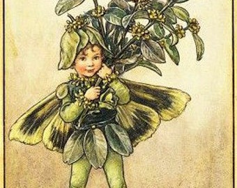 The Box Tree Fairy - Counted cross stitch pattern in PDF format