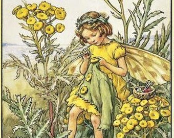 The Tansy Fairy - Counted cross stitch pattern in PDF format