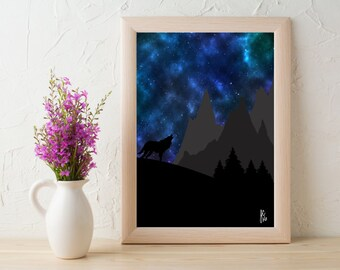 Howling Wolf 8x10 Print