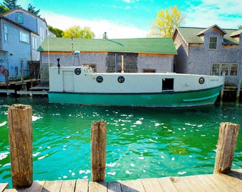 Leland, Michigan Boat Photograph | Pack of Notecards or Postcards
