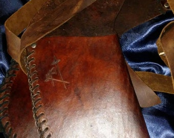 Iron Ranger's, All Leather, Hip Quiver - Brown