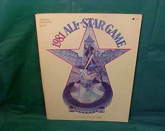 1981 Baseball  All Star Game in Cleveland Ohio Office Program with Pull Outs