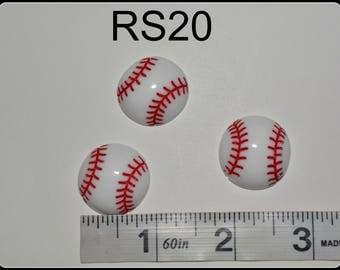 baseball resins, cabochons, sports resins, flatback baseball, hair bow center piece, embellishment