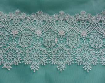"5.5"" white lace trim for DIY sewing,polyester lace trim"