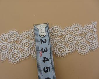 white Vintage Lace, 1yard Lace Trim / Solubility Lace / circle  Lace Trim ,Schiffli Lace,machine-made lace,Chemical Lace-LSSP040