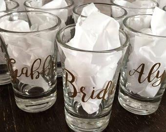 Custom Shot Glasses - Set of 8