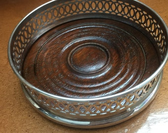 Vintage Silver Plate Wine Coster