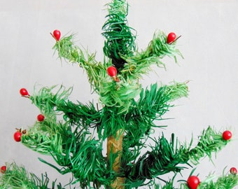 Antique German Goose Feather Christmas Tree  1920s-1930s