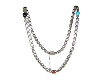 Heavy Vintage Navajo Sterling Bead Necklace