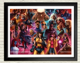 X-Men: The Animated Series Poster-Signed and Numbered Limited Edition
