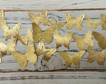 Edible Butterfly Mini Shimmering Gold/ Cupcake Topper Set of 54