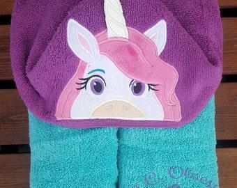 Magical Unicorn Hooded Towel, Unicorn Birthday Party, Unicorn Towel, Unicorn Decor