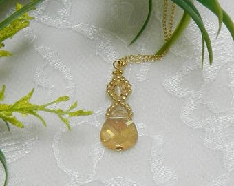 Swarovski pendant,Swarovski crystal pendant,Swarovski necklace,Swarovski Crystal Golden Shadow necklace