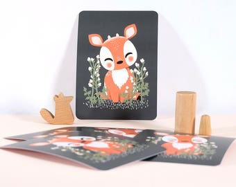 Card - Les Animignons :  the Fawn