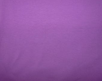 Fabric - Cotton/elastane jersey fabric -  Purple