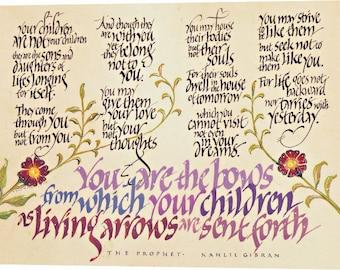 Kahlil Gibran calligraphy print