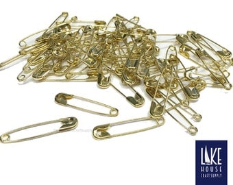 Large Golden Safety Pins. SALE