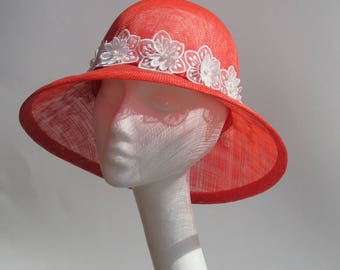 Straw hats, Summer hats, hats, sinamay hats, handmade hats, spring hats, sinamay, accessories, flowers, applique trim, lace trim