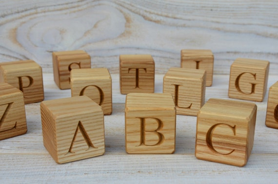 wooden block letters 20 large wooden alphabet blocks abc blocks 25670