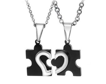 My Missing Puzzle Piece - Couples Necklaces / Personalized Gifts for Him / Girlfriend and Boyfriend Necklaces / Matching Jewelry for Couples