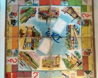 Vintage Board Game, German Game Board, Old Board Game, Vintage Monopoly, German Monopoly, Old Game Board