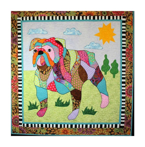 Bj Designs Patterns Max The Bulldog Dog Applique Quilt