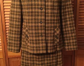 Vintage Pendleton Skirt Suit 1960's 18/20