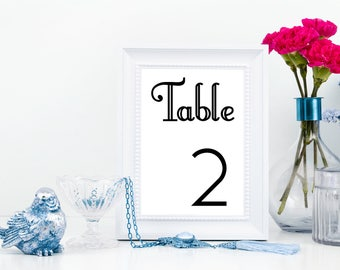 Wedding Table Numbers, Printable Table Numbers,  Wedding Printables, Printable PDF, Instant Download, DIY Wedding, Print at Home, PDF #s