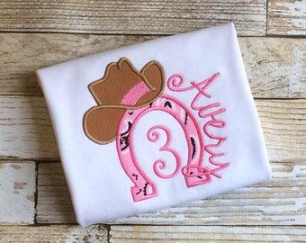 Cowgirl Birthday Shirt~Western Birthday~Western Girl Birthday
