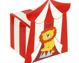 Circus Lion Baby Shower Favor Boxes, 2-Inch, 12-Piece