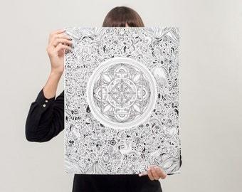 Sea of Lotus Nirvana - Art Print