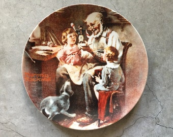 Norman Rockwell Plate, Vintage The Toy Maker, Knowles China