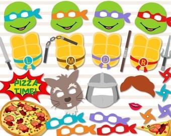 Instant Download Ninja Turtle Photo Booth Props, Ninja Turtle Digital Photobooth Props, Ninja Turtle Party Printable, Ninja Turtle 0378