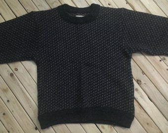 LL Bean Wool Sweater Wool Made in Norway Hand Knit