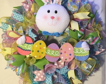 Easter wreath, Easter wreaths, Easter bunny wreath, bunny wreath, wreath, Easter decoration, Easter door decor, bunny, wreath, Easter