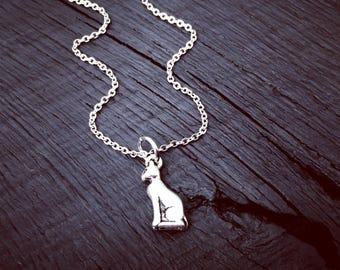 Sphynx Charm Necklace | Sphynx Jewelry | Jewelry Gift For Sphynx Lover | Sphynx Lover Gift | Crazy Sphynx Cat Lady Jewelry | Hairless Cat