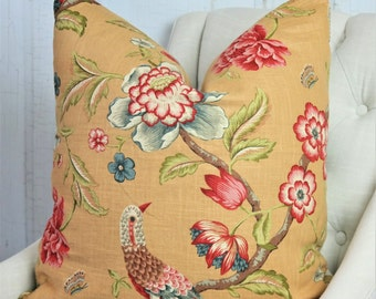 SALE // Red Pillow Cover // One Sided Pillow Cover // High End Designer Pillow // 0111832 Crimson