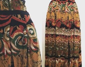 Vintage 80s Boho Skirt