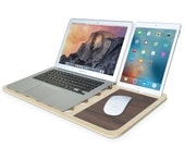 Extended Cyber Monday 40% Off Makers SALE - Slate Color LapDesk by iSkelter Workshop | Perfect GIFT for Him or Her | Classic Walnut Edition