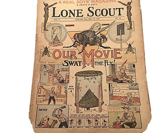 The Real Boys Magazine    Lone Scout Newspaper    Our Movie Swat the Fly    May 13 1916    Perry Emerson Thompson