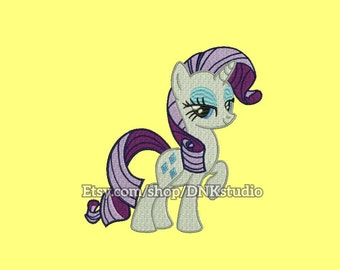 My Little Pony Rarity Embroidery Design - 6 Sizes - INSTANT DOWNLOAD