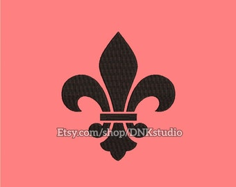 Fleur de Lis Embroidery Design - 5 Sizes - INSTANT DOWNLOAD