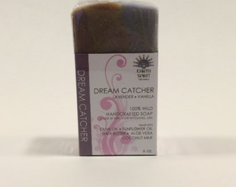 DREAM CATCHER, Lavender, Vanilla, Moisturizing Shea Butter, Essential Oils, Natural Soap, Gift for Her, Best Seller, Mother's Day - 6 oz.