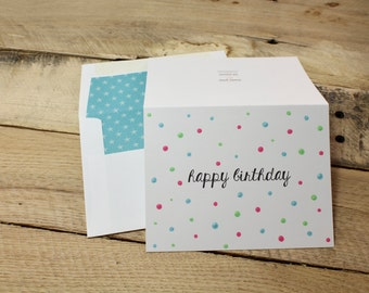 Happy Birthday Multi Color | Painted Polka Dot Collection