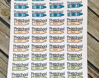 Preschool Stickers - Functional Stickers - Planner Stickers - for use with Erin Condren - Happy Planner