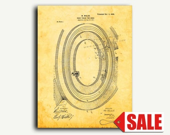 Patent Art - Race Track For Dogs Patent Wall Art Print