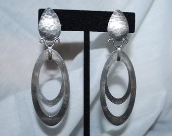 Margaret Ellis Modernist Sterling Silver Earrings  Signed