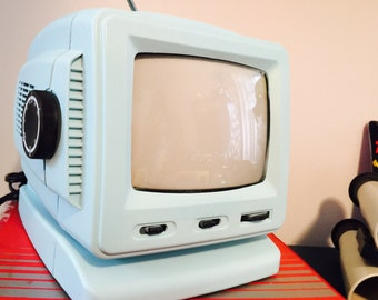 Vintage Portable TV & Arcade Combo