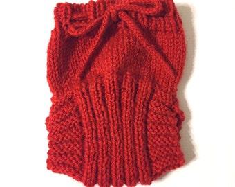 Newborn Hand Knit Wool Soaker - Wool Diaper Cover - Diaper Cover - Red Wool Diaper Cover