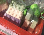 3 Lego Handcrafted Soap Favors